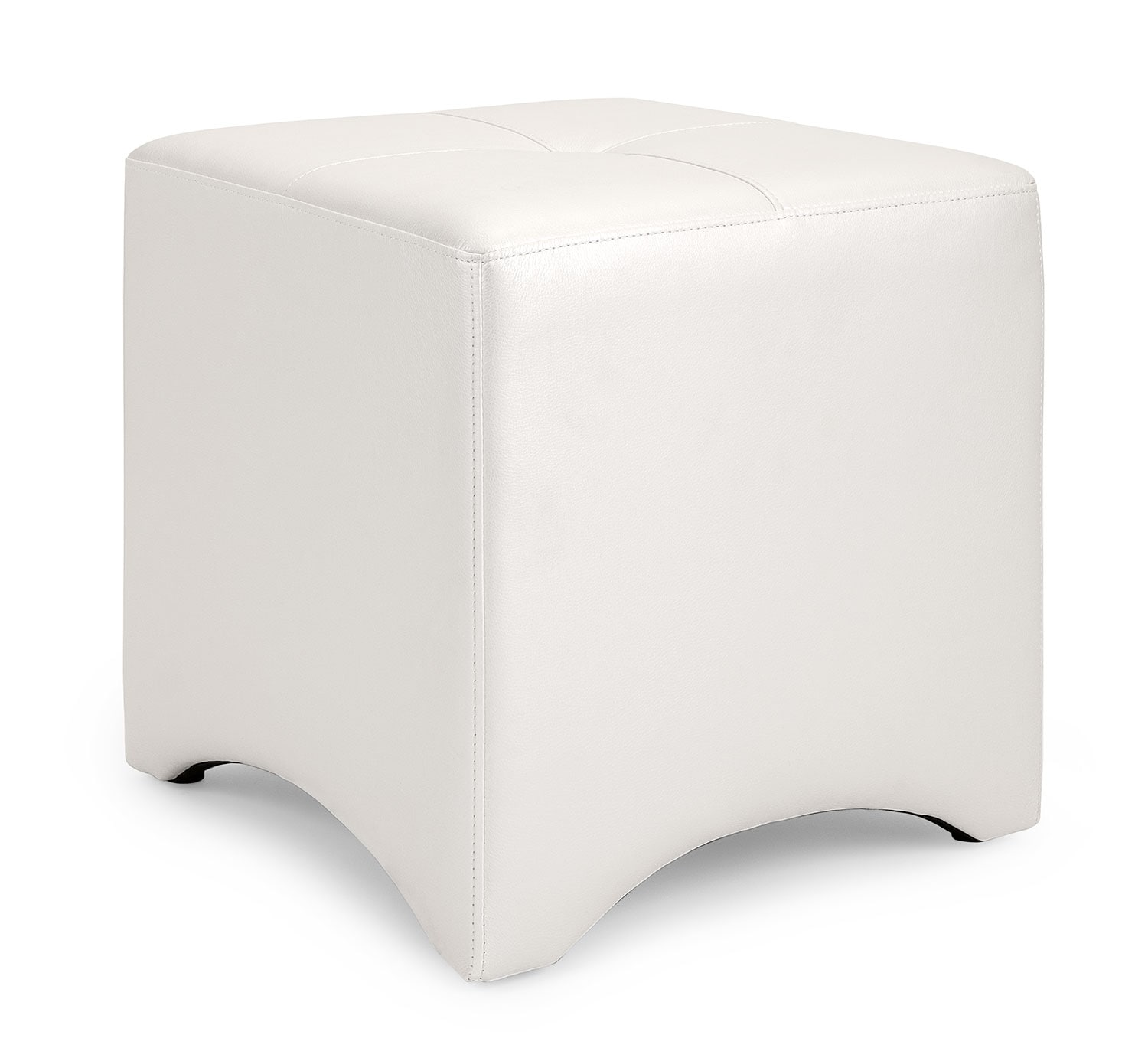 Accent and Occasional Furniture - Lux Ottoman – Ivory