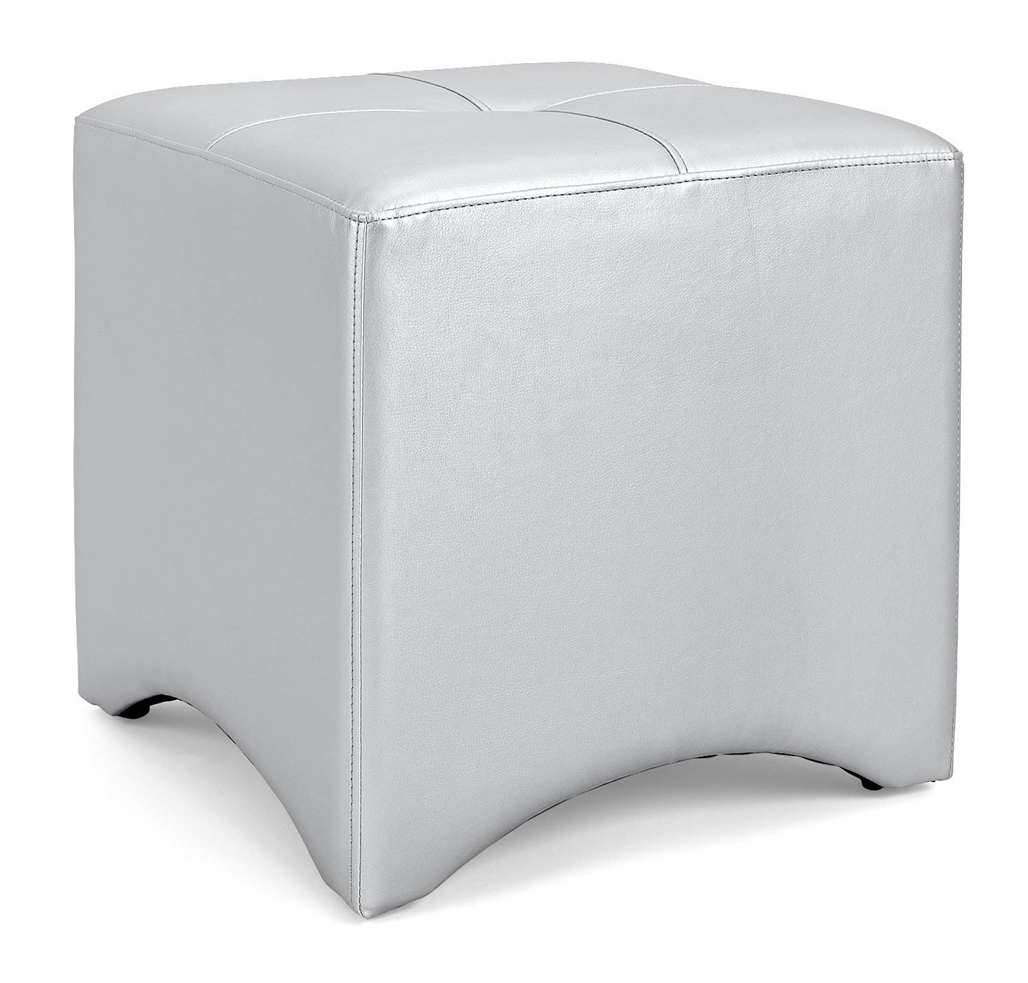 Accent and Occasional Furniture - Lux Ottoman – Silver