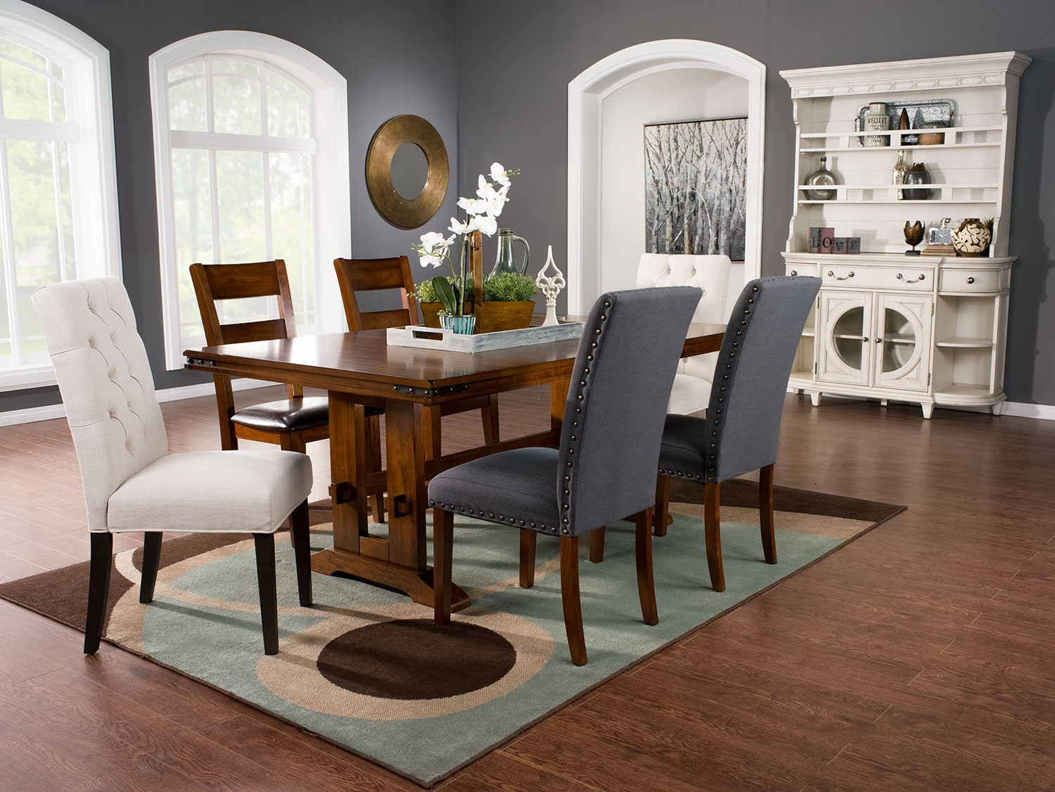 Magnus 7-Piece Dining Package with Assorted Dining Chairs