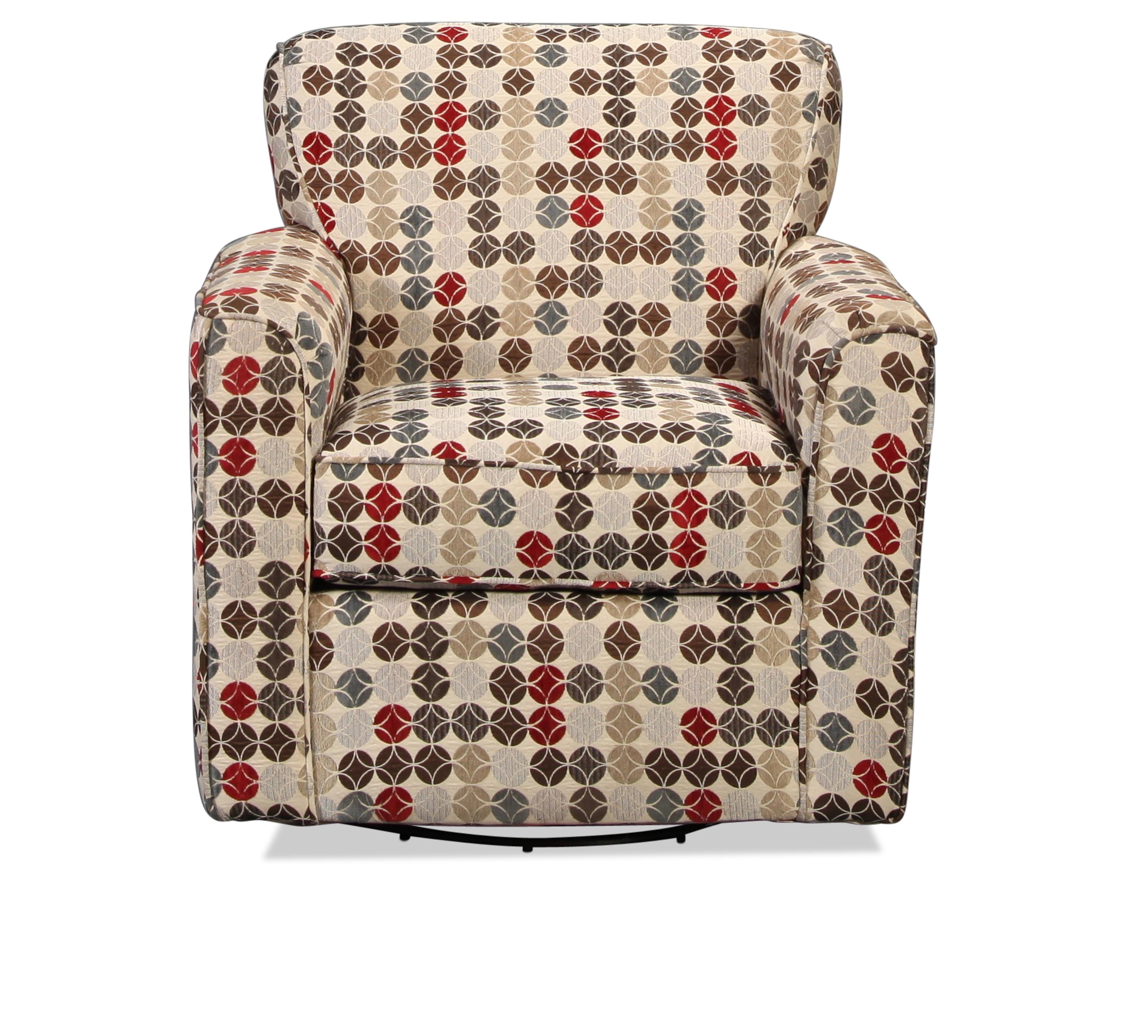 Canoga Swivel Glider Chair - Geometric