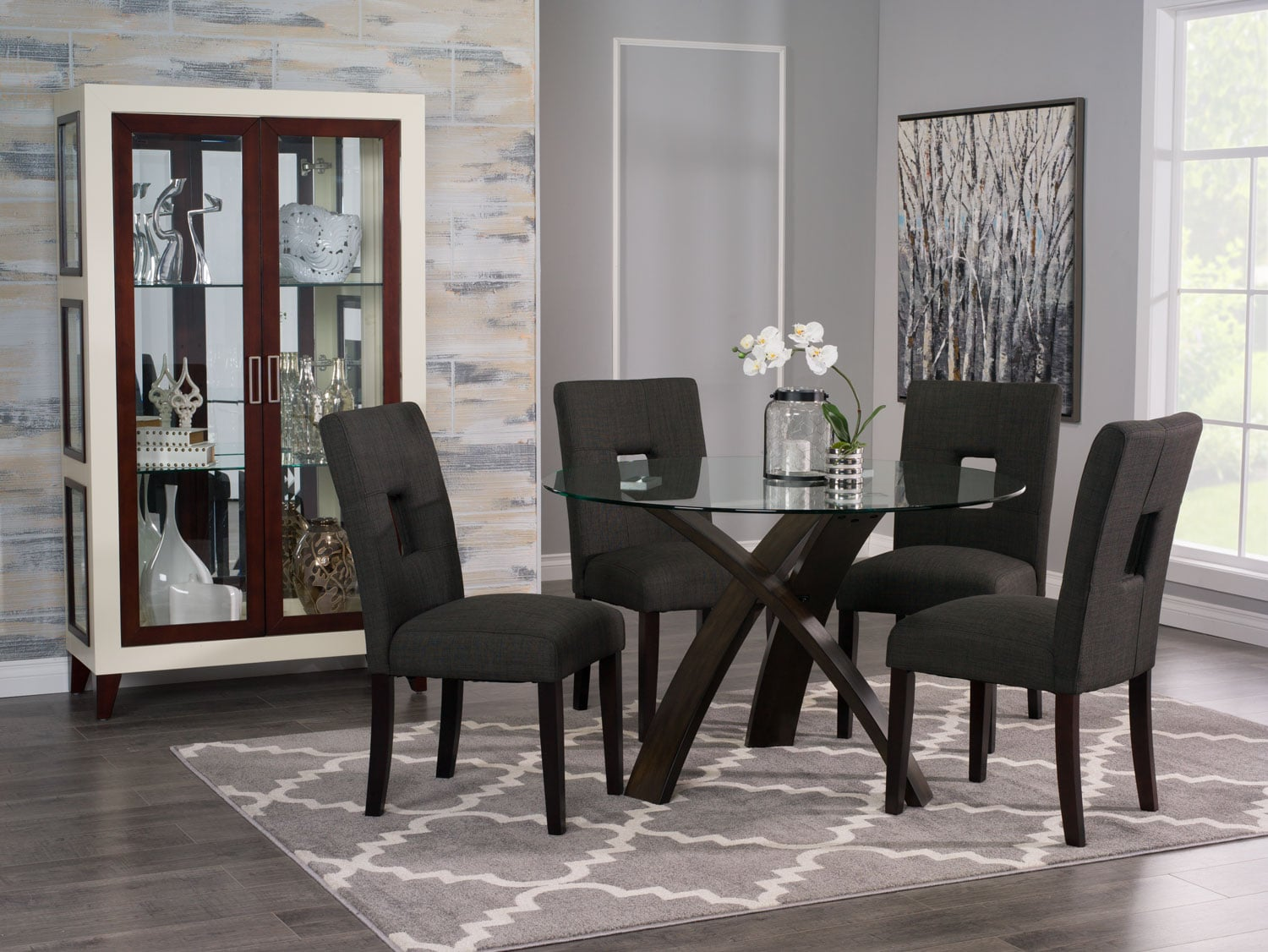 Dining Room Furniture - Skye 5-Piece Dining Package with McKena Chairs