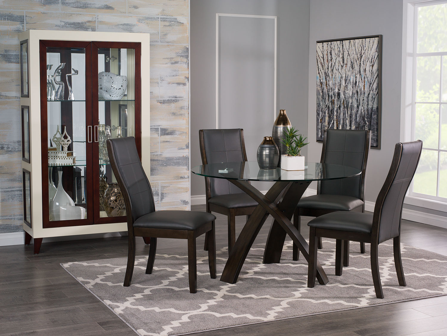 Dining Room Furniture - Skye 5-Piece Dining Package with Tyler Dining Chairs