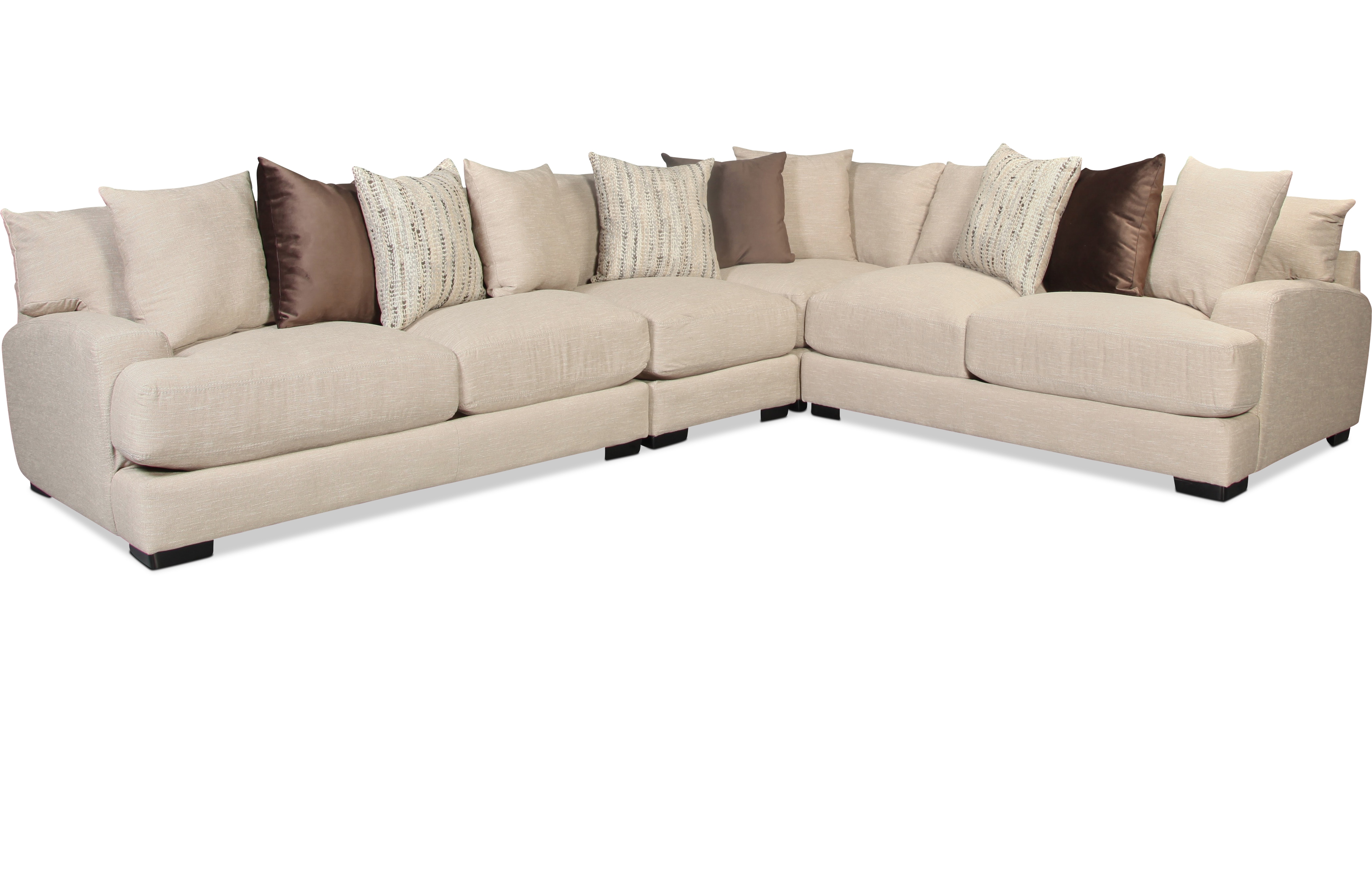 Caiden 4 Piece Sectional- Dusk