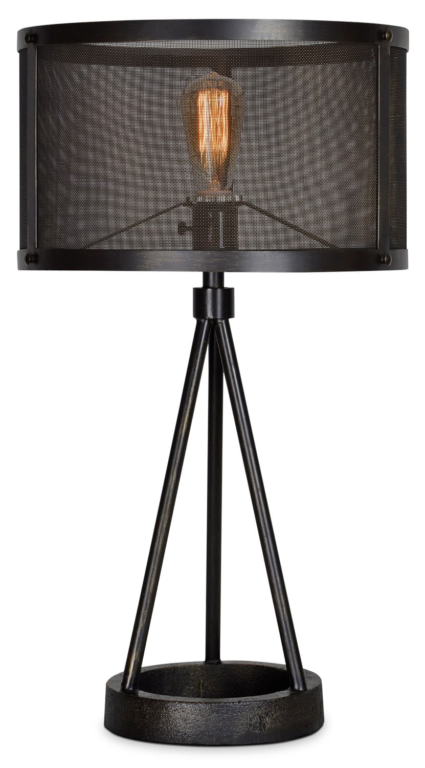 "Accent and Occasional Furniture - Brooklyn 27"" Table Lamp - Black Steel"