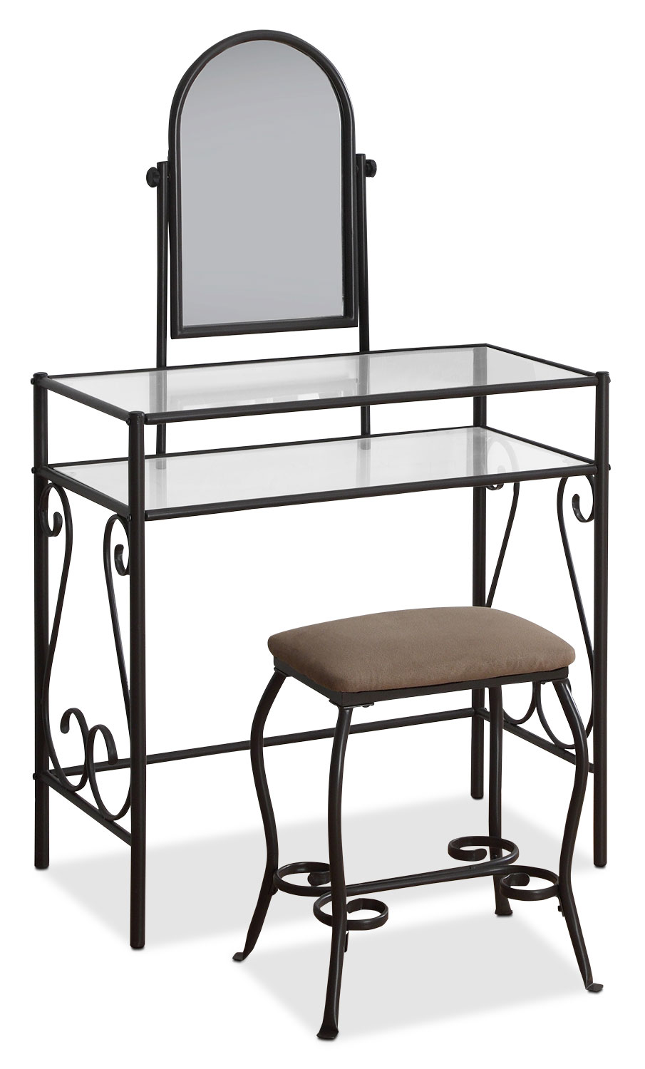 Accent and Occasional Furniture - Marie 2-Piece Vanity Set