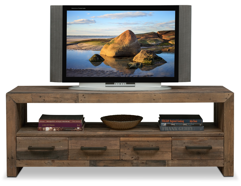 rancho 63 tv stand pine american signature furniture