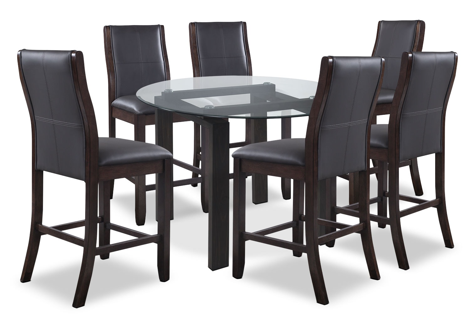 Dining Room Furniture - Tyler 7-Piece Dining Package – Grey