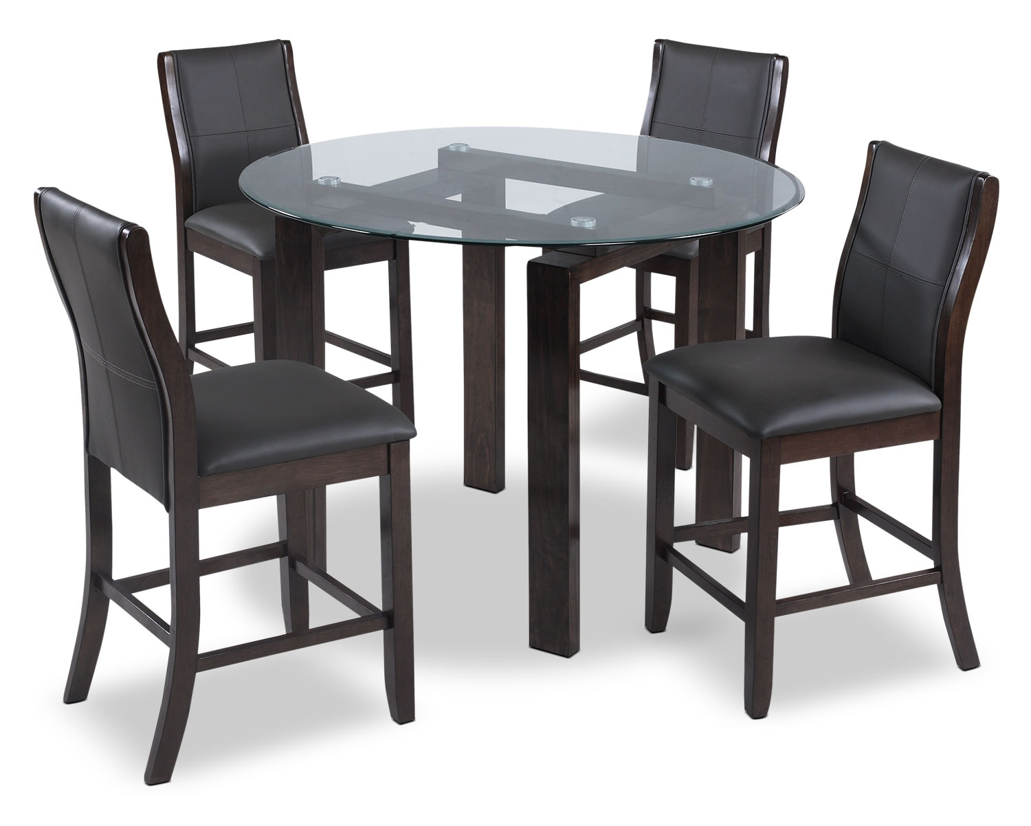 Dining Room Furniture - Tyler 5-Piece Dining Package – Grey