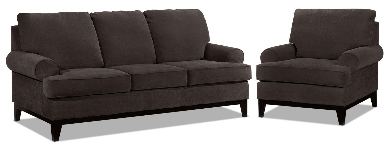 Crizia Sofa and Chair Set - Coffee