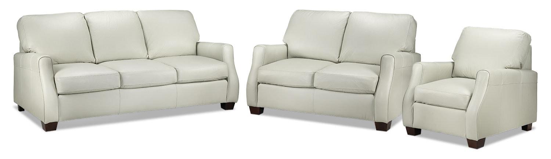 Talbot Sofa, Loveseat and Chair - Smoke