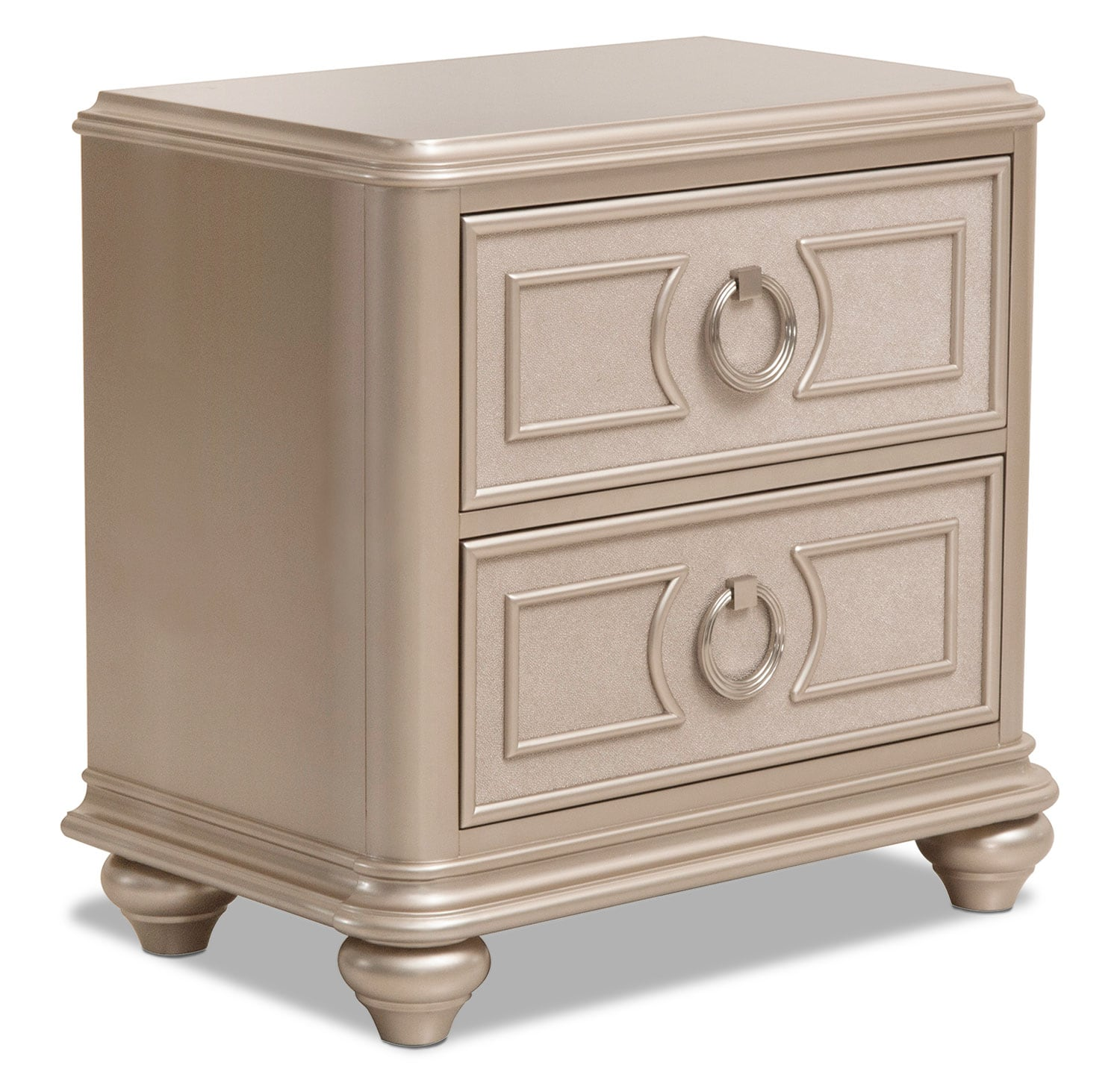 Bedroom Furniture - Dynasty Night Table - Gold