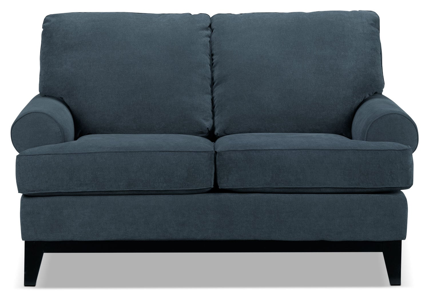 Living Room Furniture - Crizia Loveseat - Navy