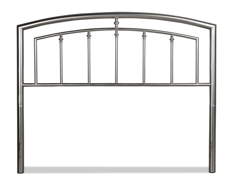 Bedroom Furniture - Claudia Full/Queen Headboard - Matte Nickel