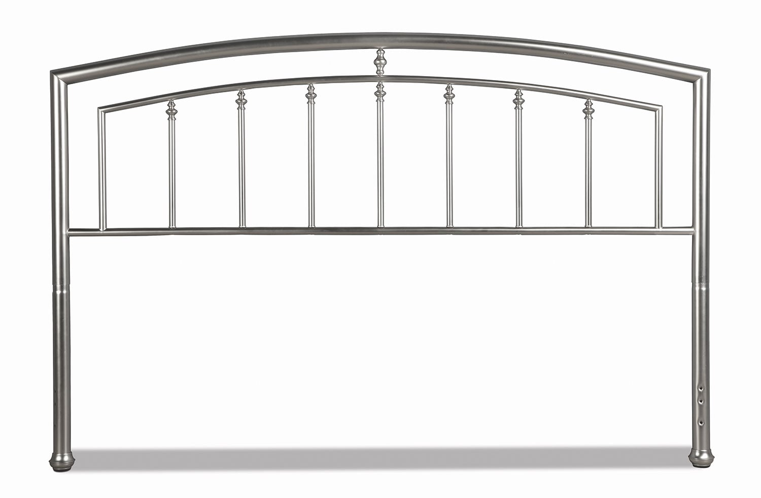 Bedroom Furniture - Claudia King Headboard - Matte Nickel