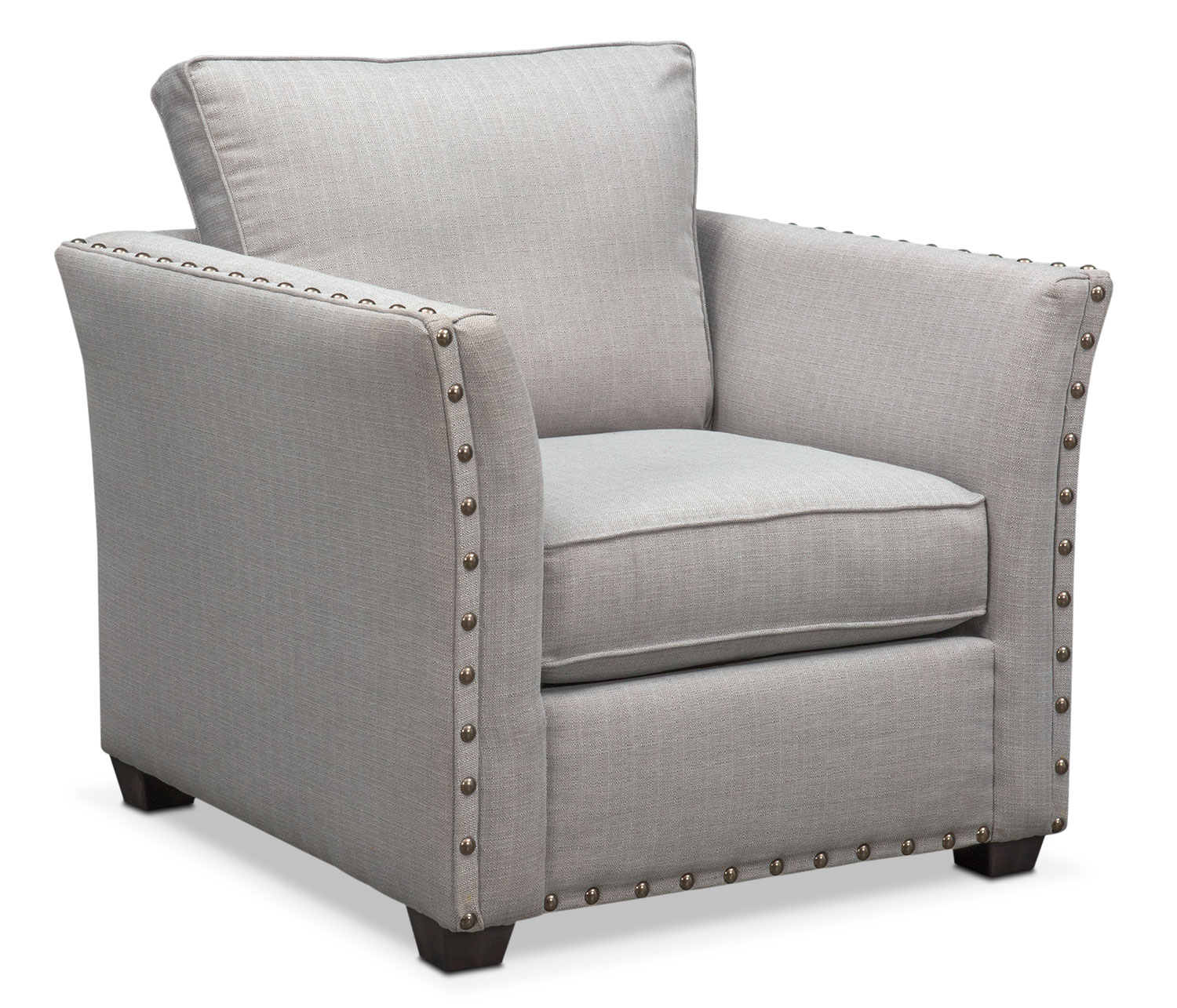 Mckenna Queen Innerspring Sleeper Sofa Loveseat And Chair Set Pewter American Signature