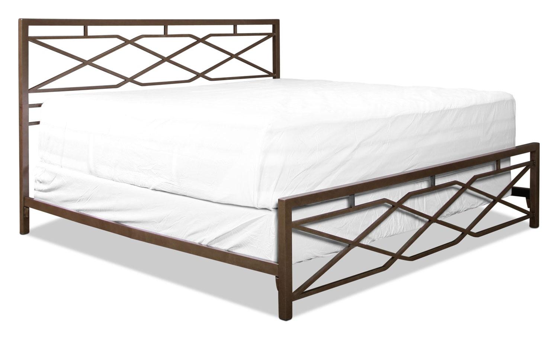 Alpine King Bed - Pewter