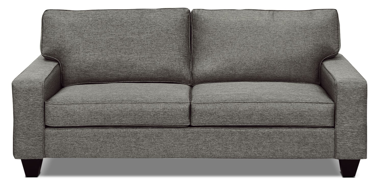 Designed2B Dax Linen-Look Fabric Sofa – Sophisticate Pepper