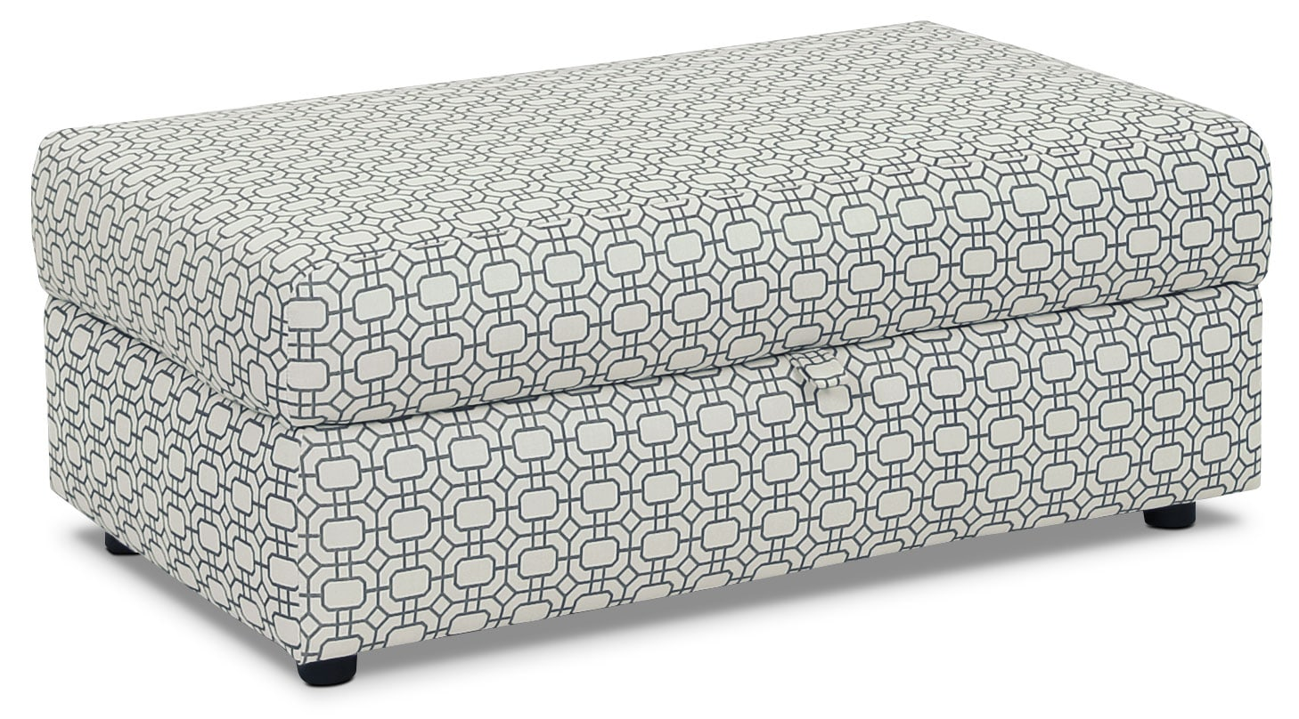 Designed2B Fabric Rectangular Storage Accent Ottoman – Marine