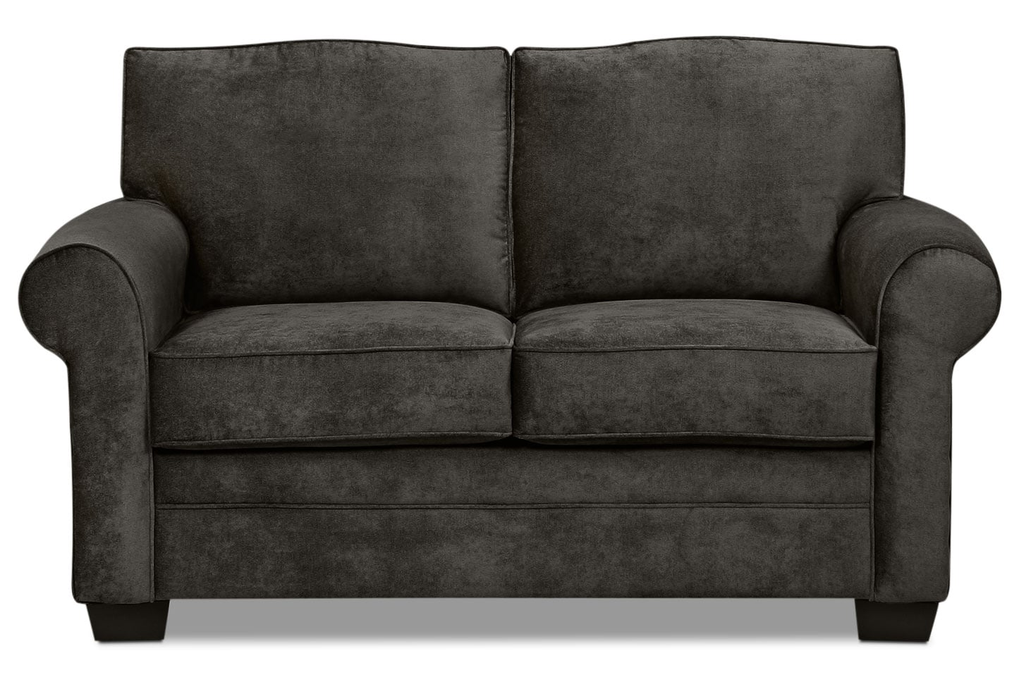 Designed2b Dov Chenille Sofa Lavish Charcoal The Brick