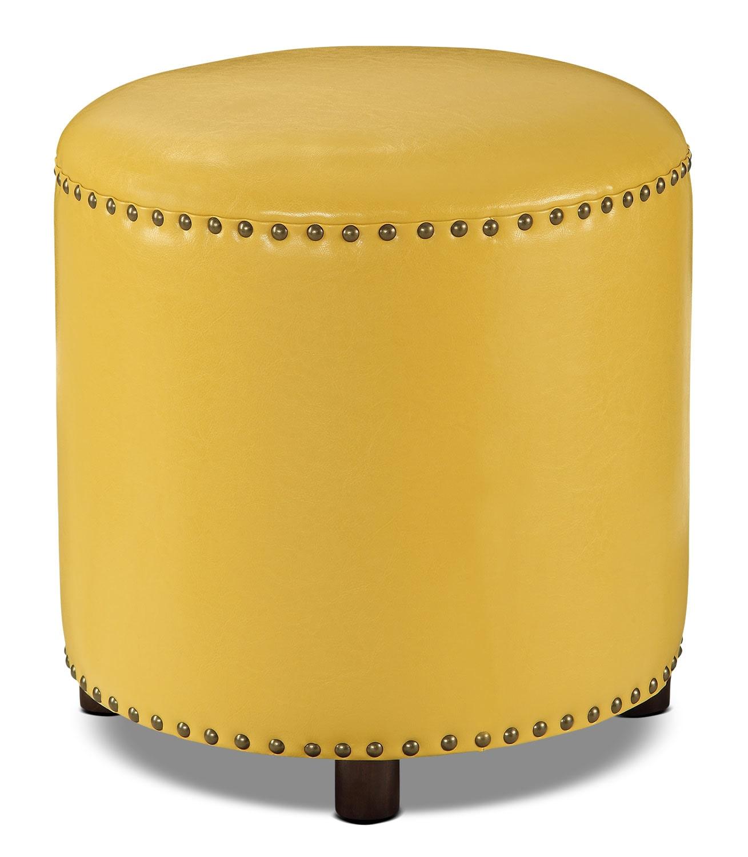 Chilton Ottoman – Mustard Yellow