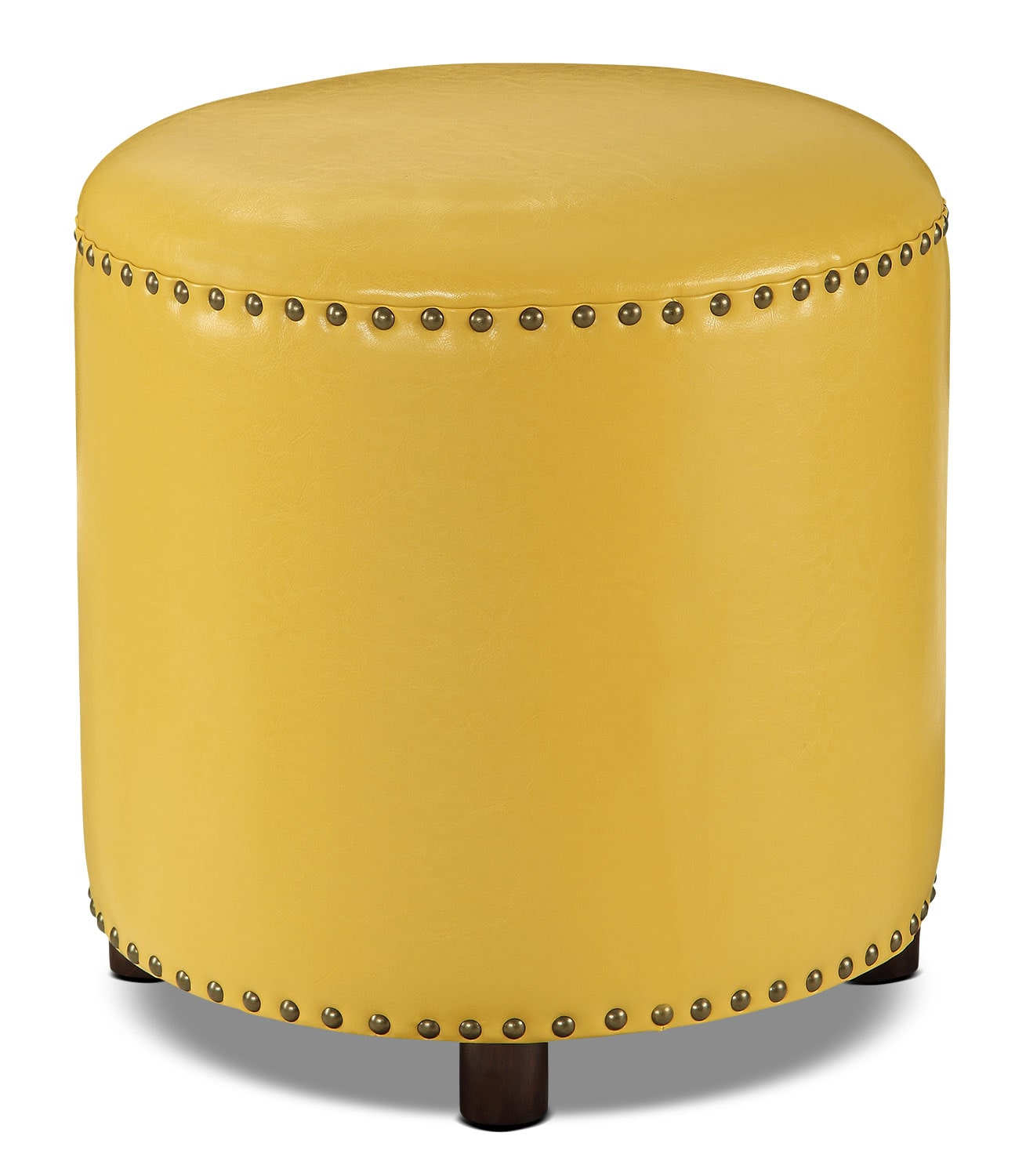 Living Room Furniture - Chilton Ottoman – Mustard Yellow