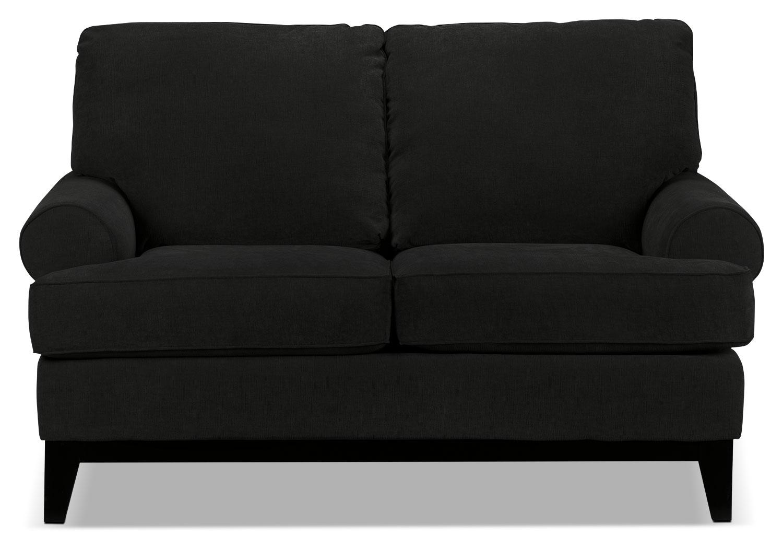 Living Room Furniture - Crizia Loveseat - Black