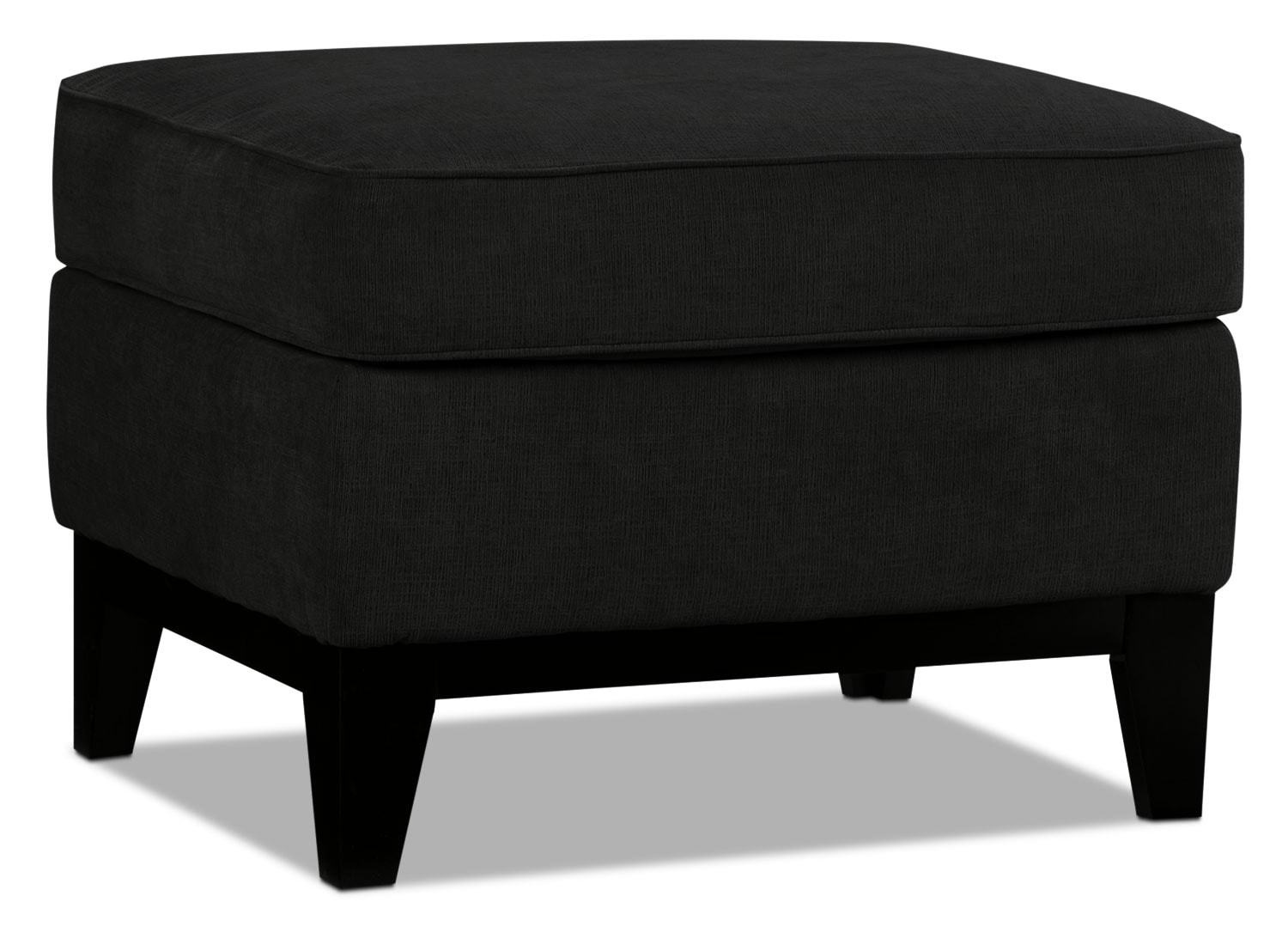 Living Room Furniture - Crizia Ottoman - Black