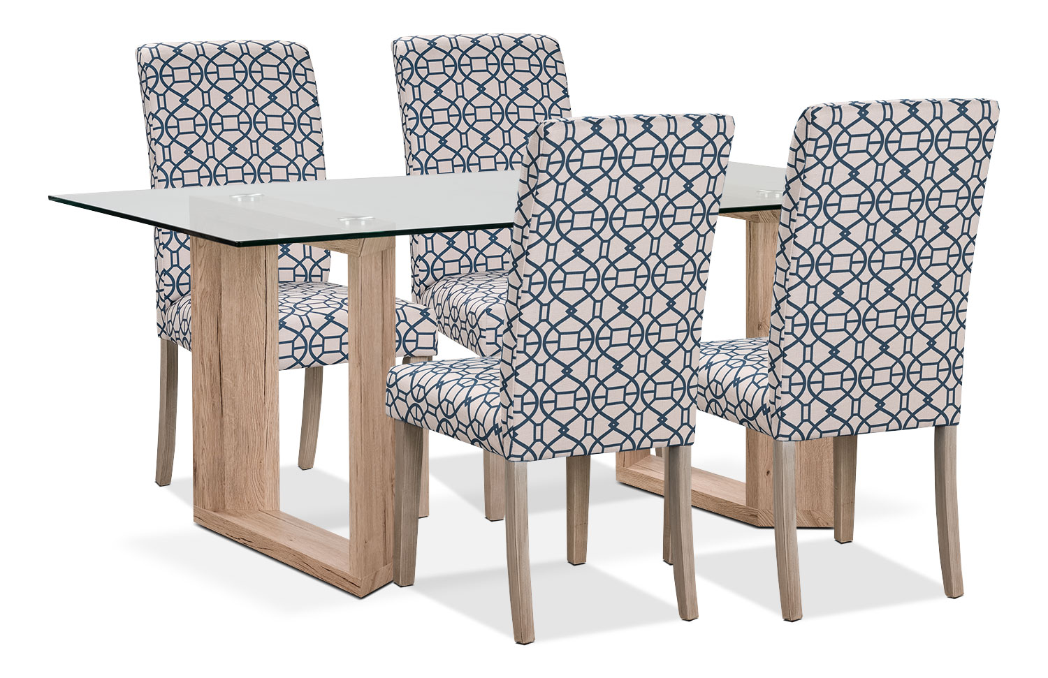 Aiden 5-Piece Dining Package with Kalen Chairs – Blue