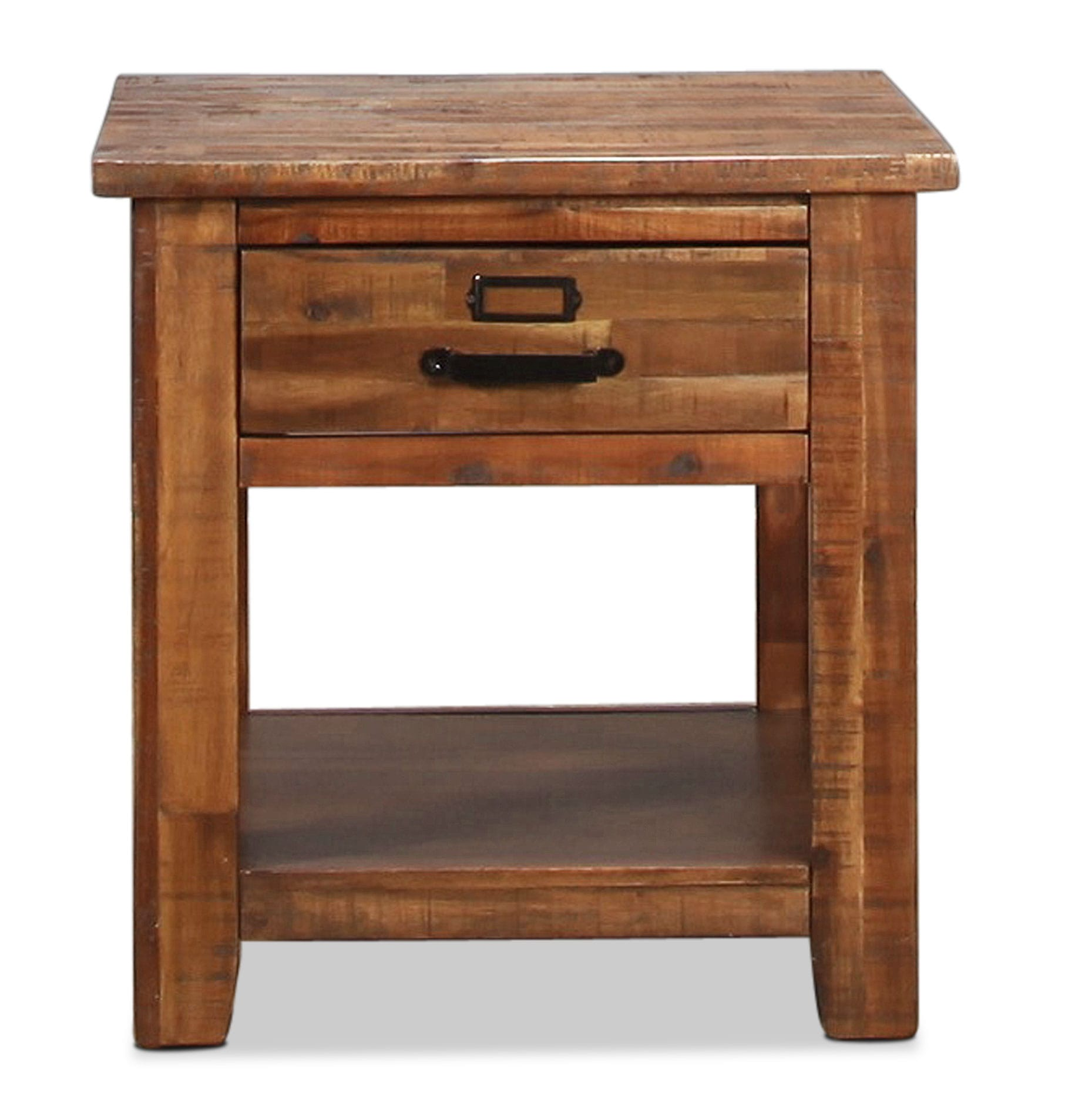 Accent and Occasional Furniture - Reign End Table - Distressed Medium Brown