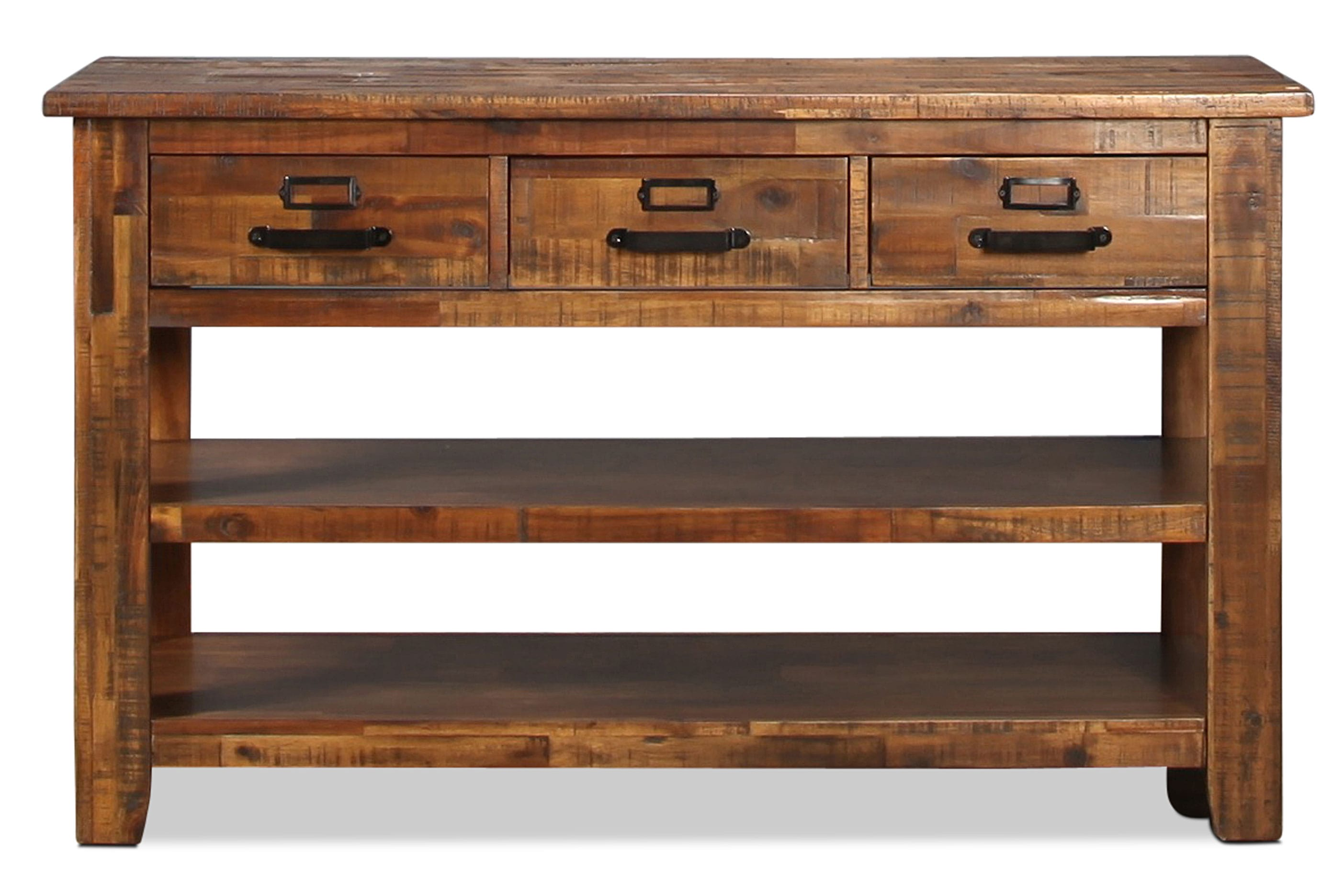 Reign Sofa Table - Distressed Medium Brown
