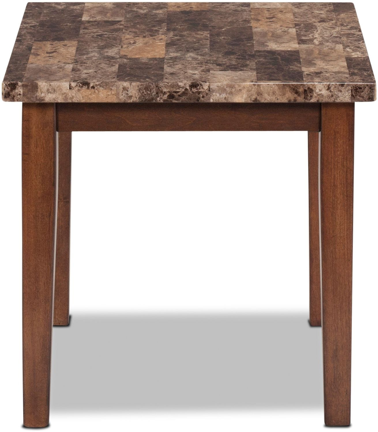 Adelaide Coffee Table and 2 End Tables - Warm Brown with Faux Marble