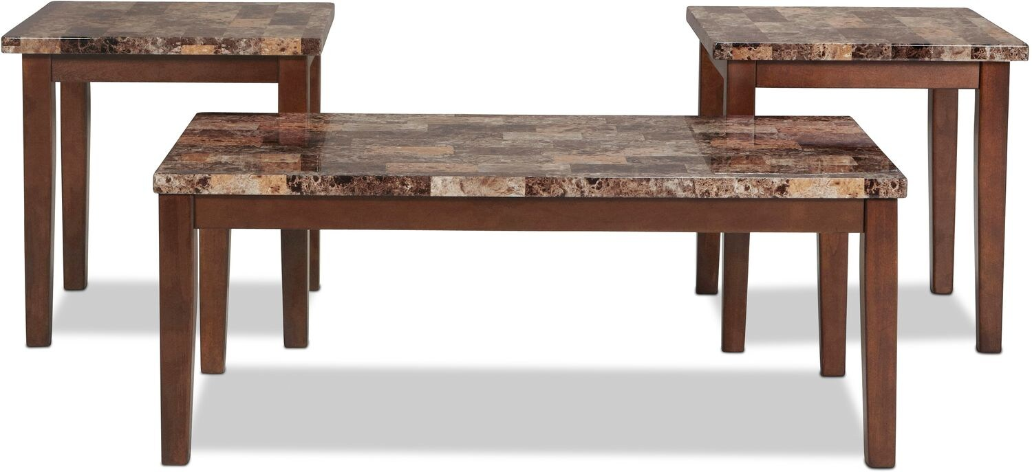 Adelaide Coffee Table and 2 End Tables Warm Brown with  : 487399 from www.levinfurniture.com size 1500 x 687 jpeg 127kB