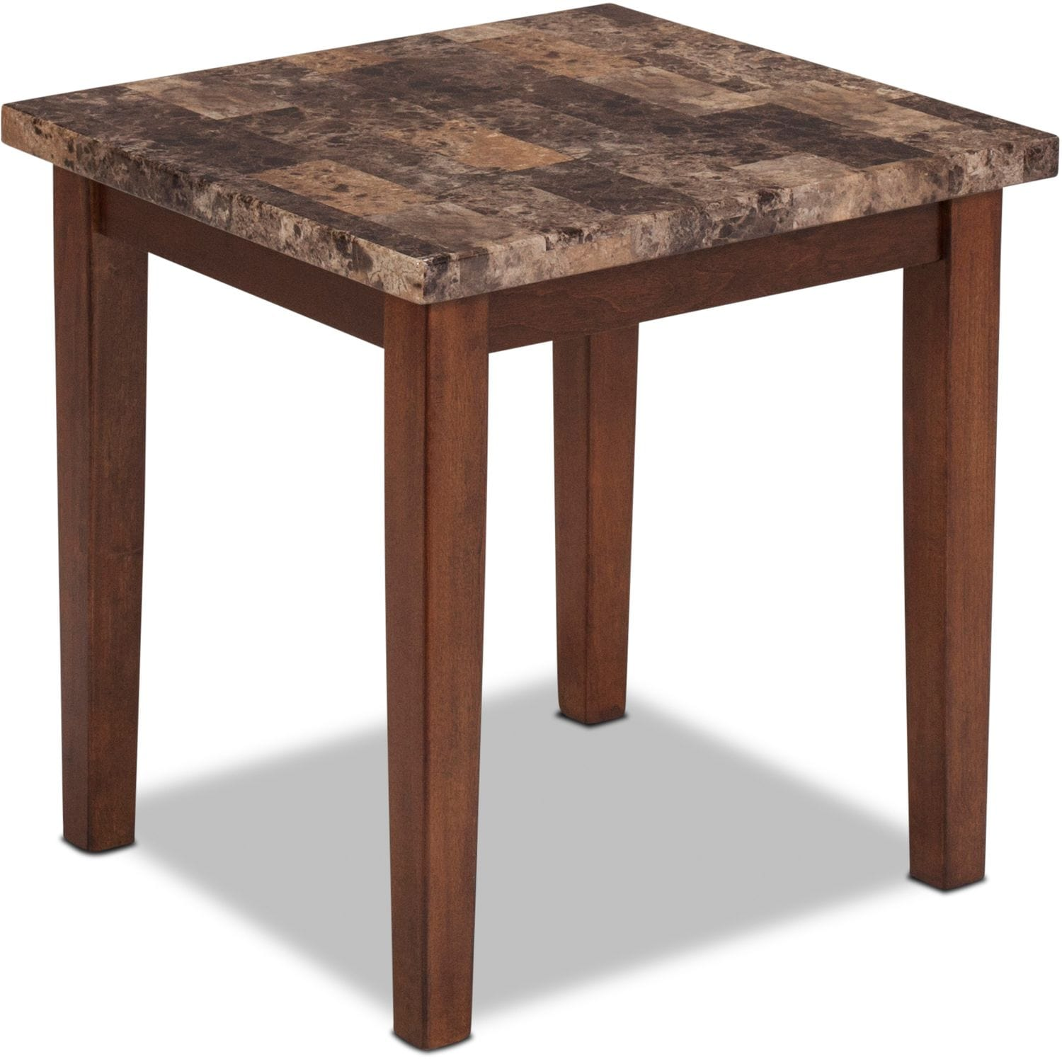 Adelaide Coffee Table And 2 End Tables Warm Brown With Faux Marble Levin Furniture