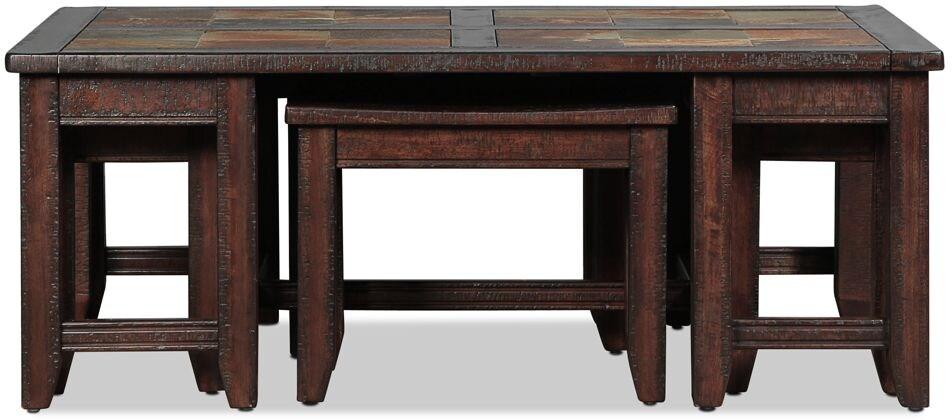 Allister Coffee Table - Slate and Cinnamon