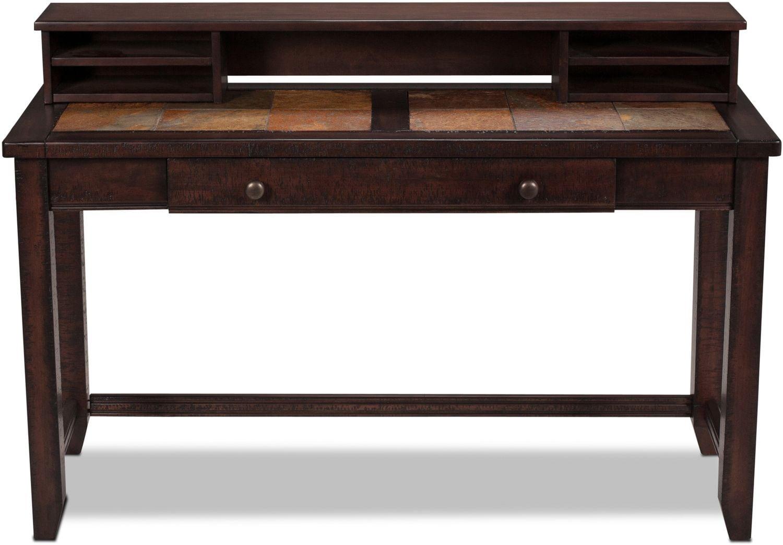 Allister Desk - Slate and Cinnamon