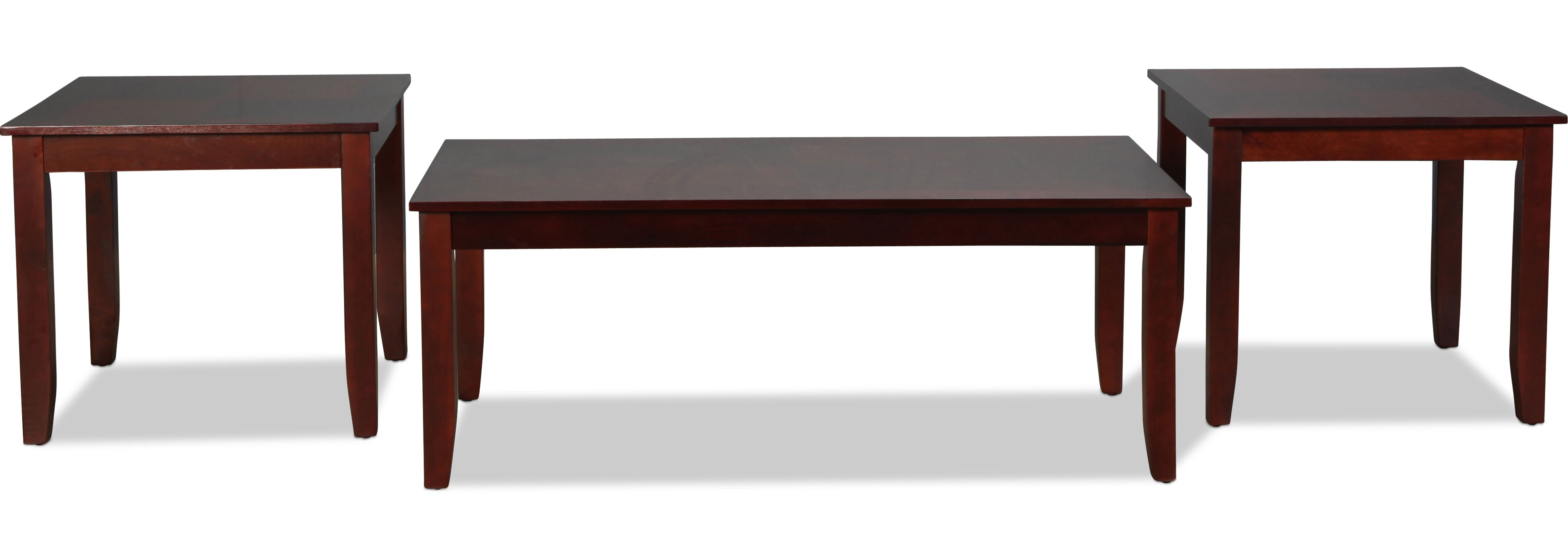 Staley Coffee Table and 2 End Tables - Cherry