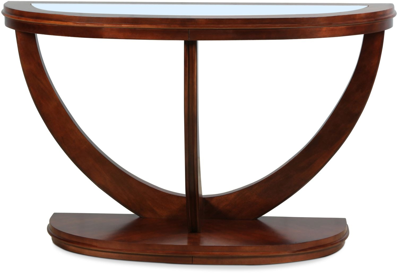 Chandra Sofa Table - Dark Merlot