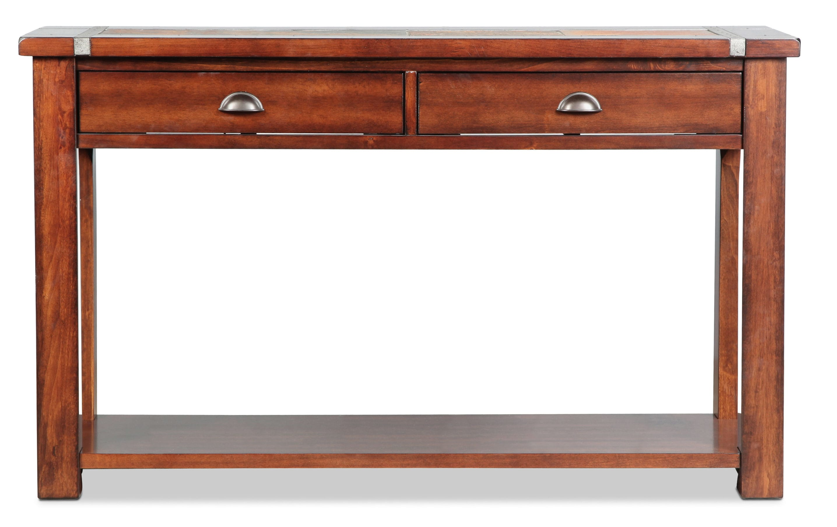 Roanoke Sofa Table - Slate and Cherry