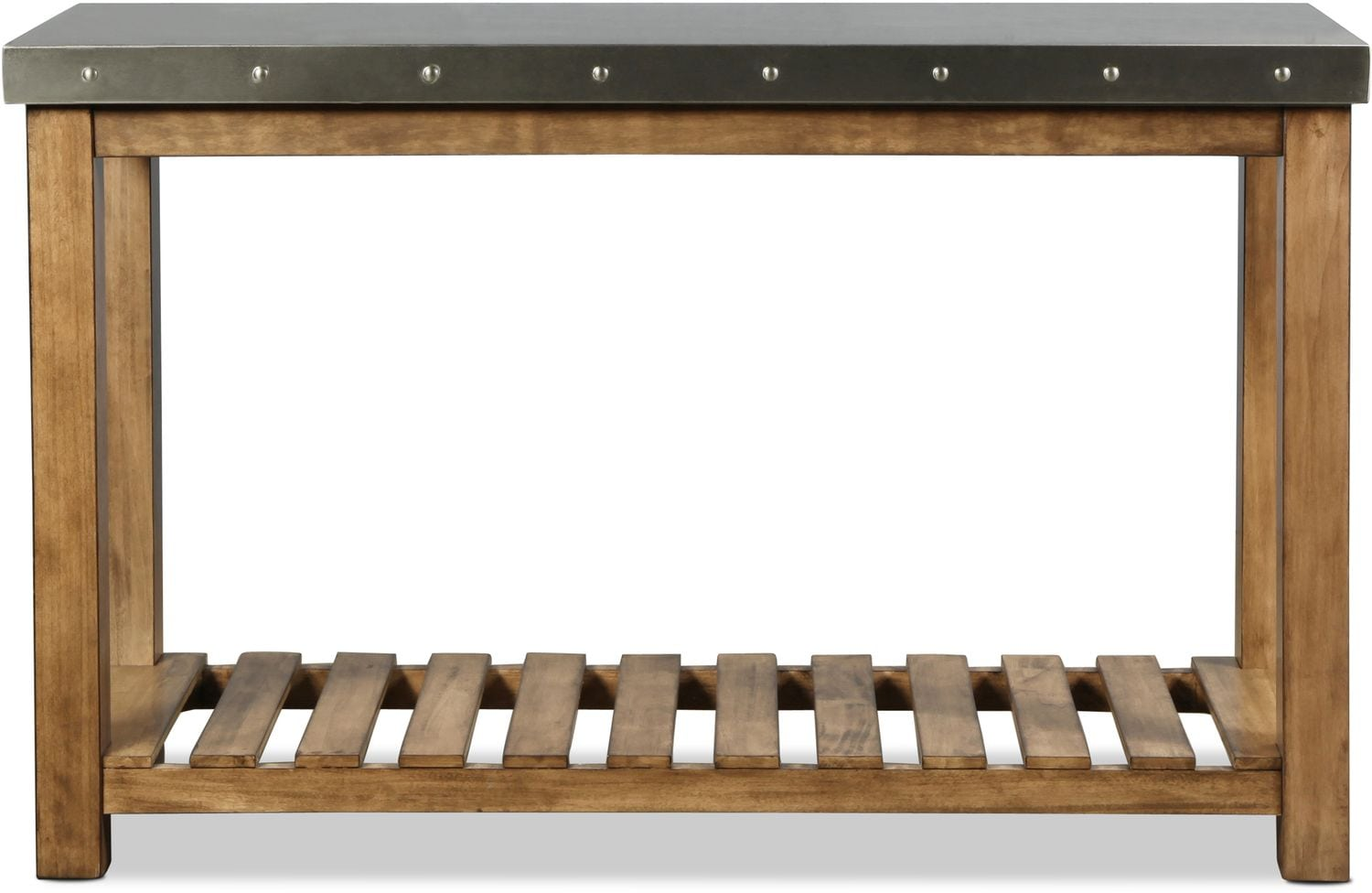 Accent and Occasional Furniture - Allegro Sofa Table - Weathered Wood with Metal