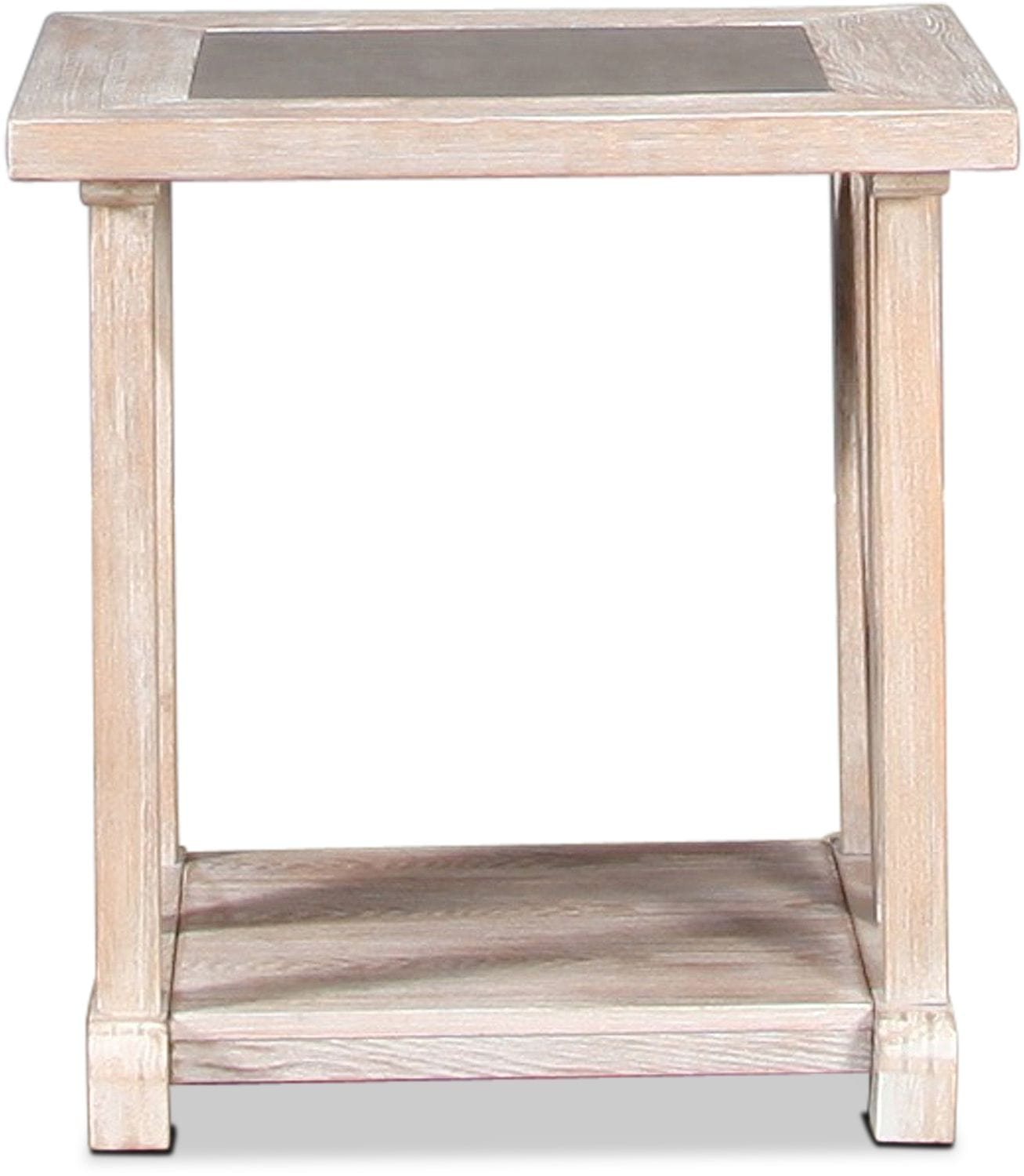 Accent and Occasional Furniture - Brixton End Table - Driftwood Gray