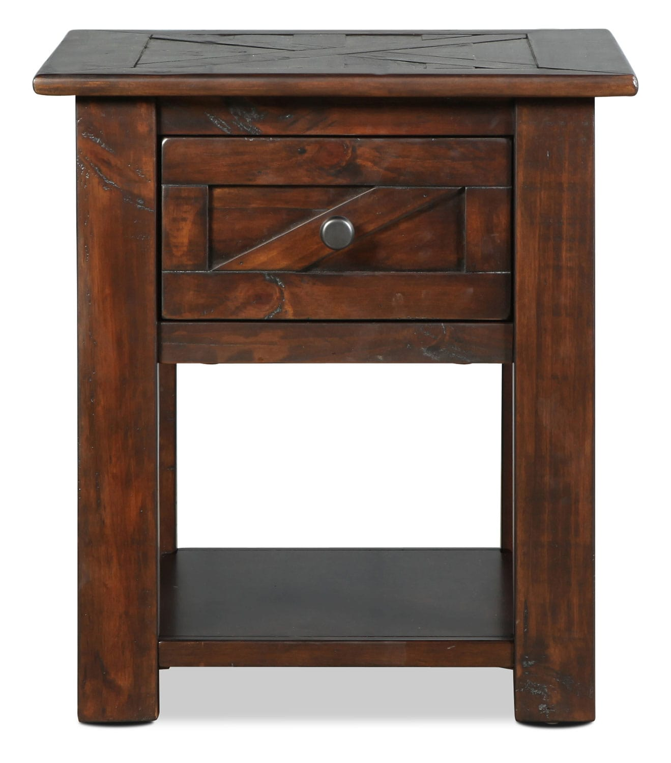 Accent and Occasional Furniture - Fraser End Table - Rustic Pine