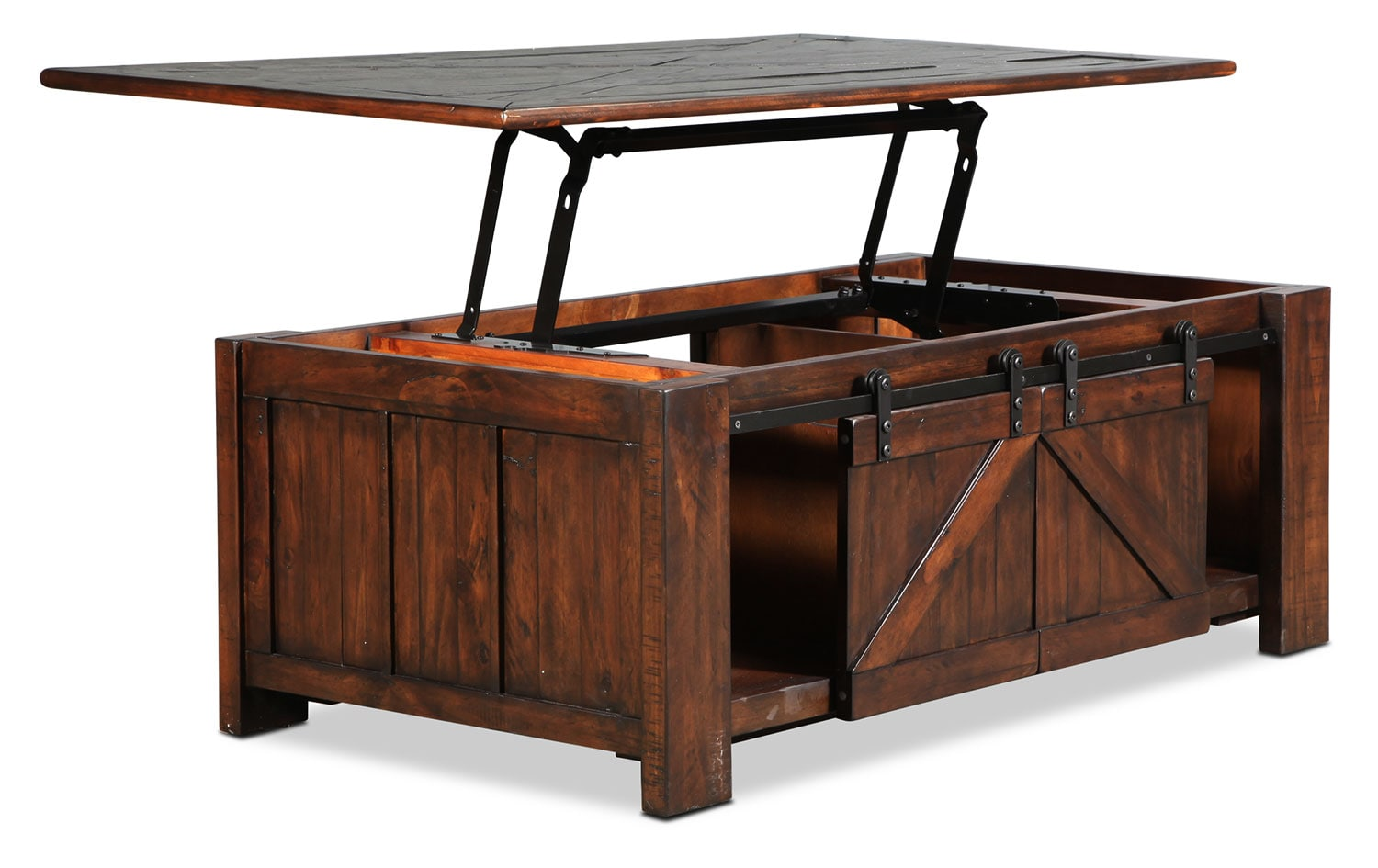 Fraser lift top coffee table rustic pine levin furniture Lifting top coffee table