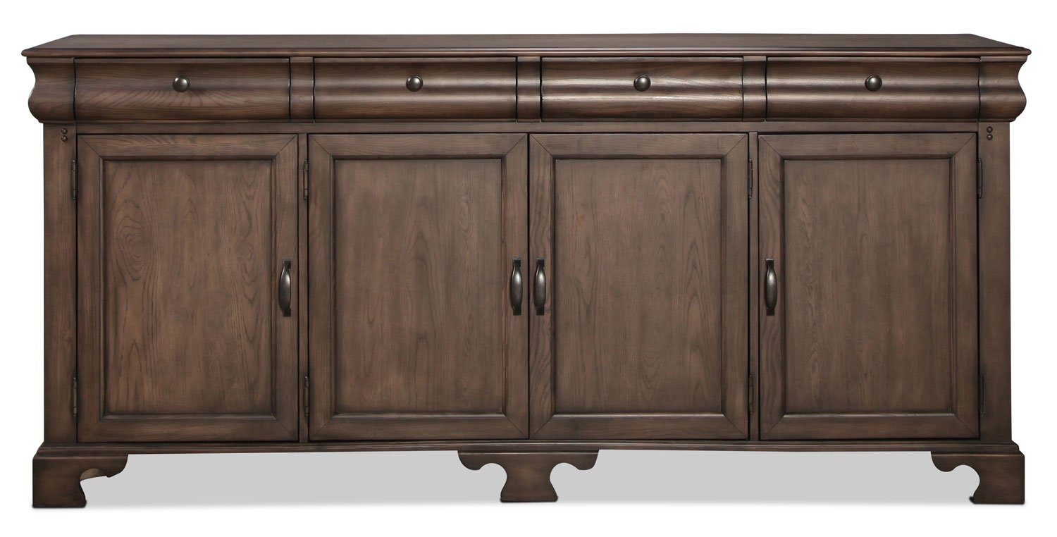 Magnolia home traditional buffet levin furniture for Traditional dining room sideboard
