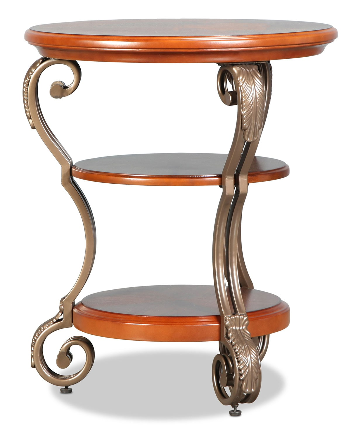 Hastings Chairside Table - Burnished Brown