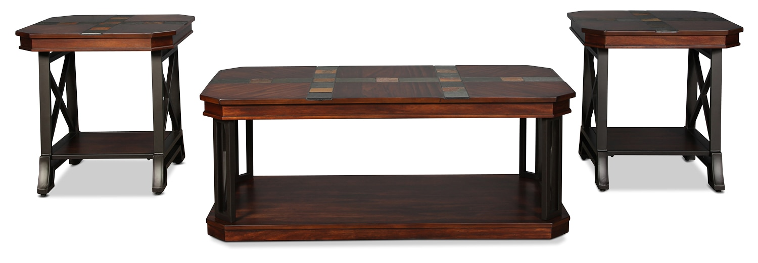 Summit Coffee Table and 2 End Tables