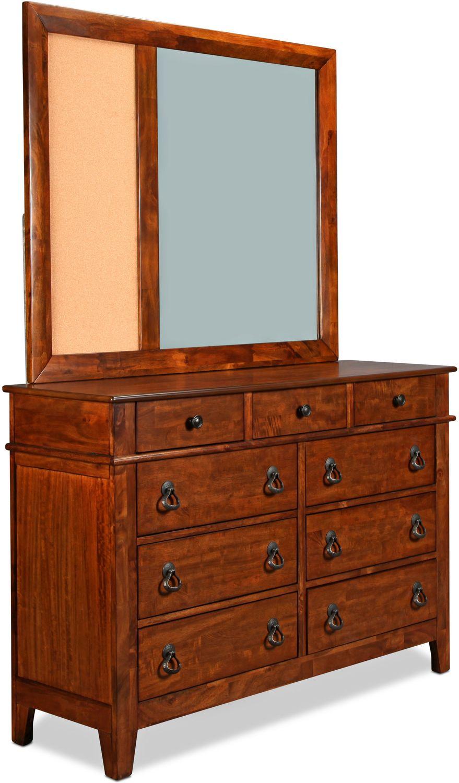 Kids Furniture - Sutton Mirror - Light Brown