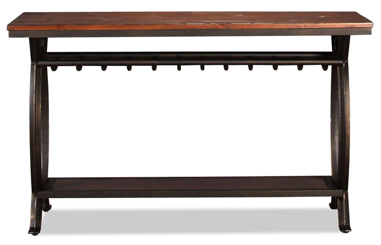 Kolton Sofa Table - Dark Pine