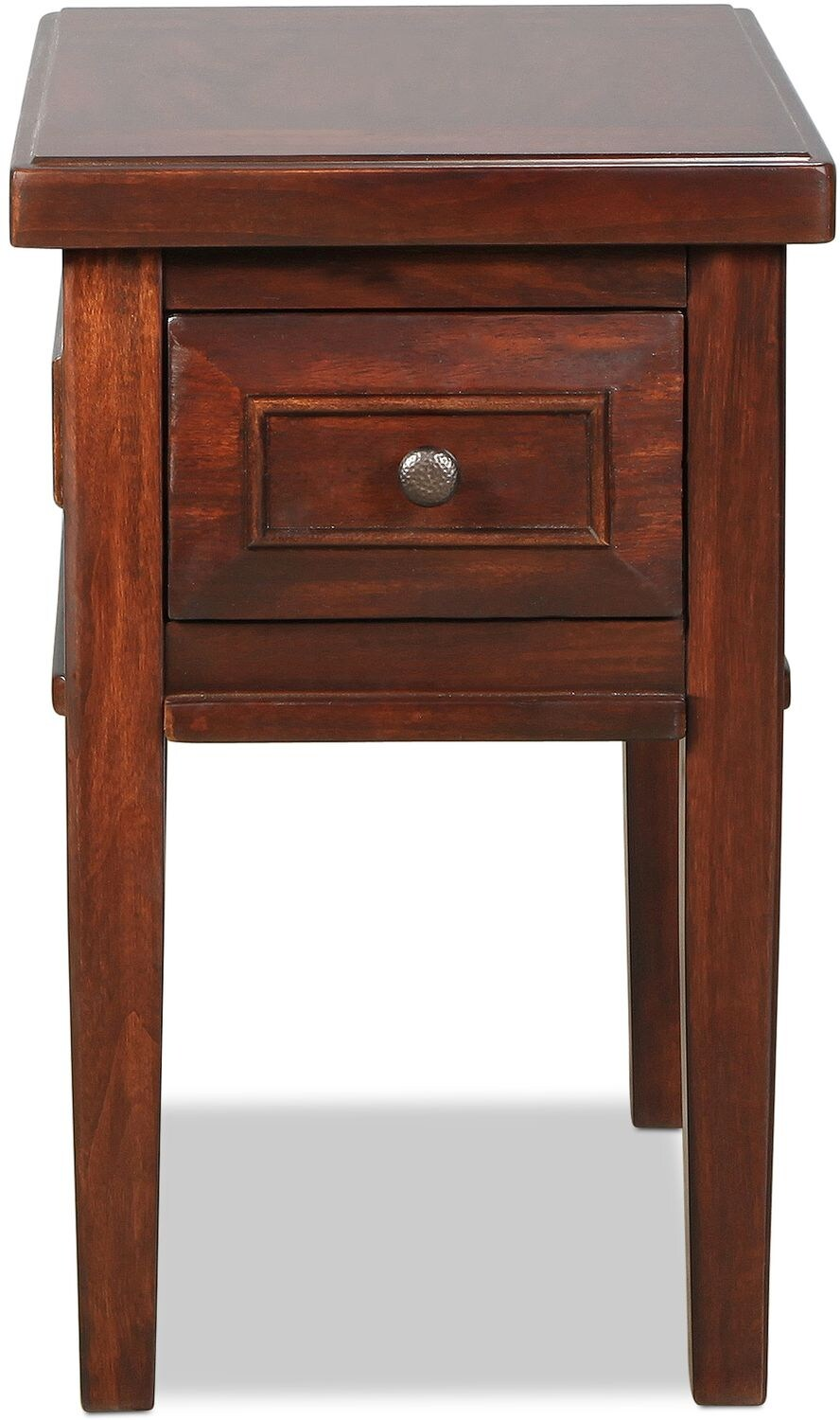 Accent and Occasional Furniture - Bentworth Chairside Table - Rustic Brown