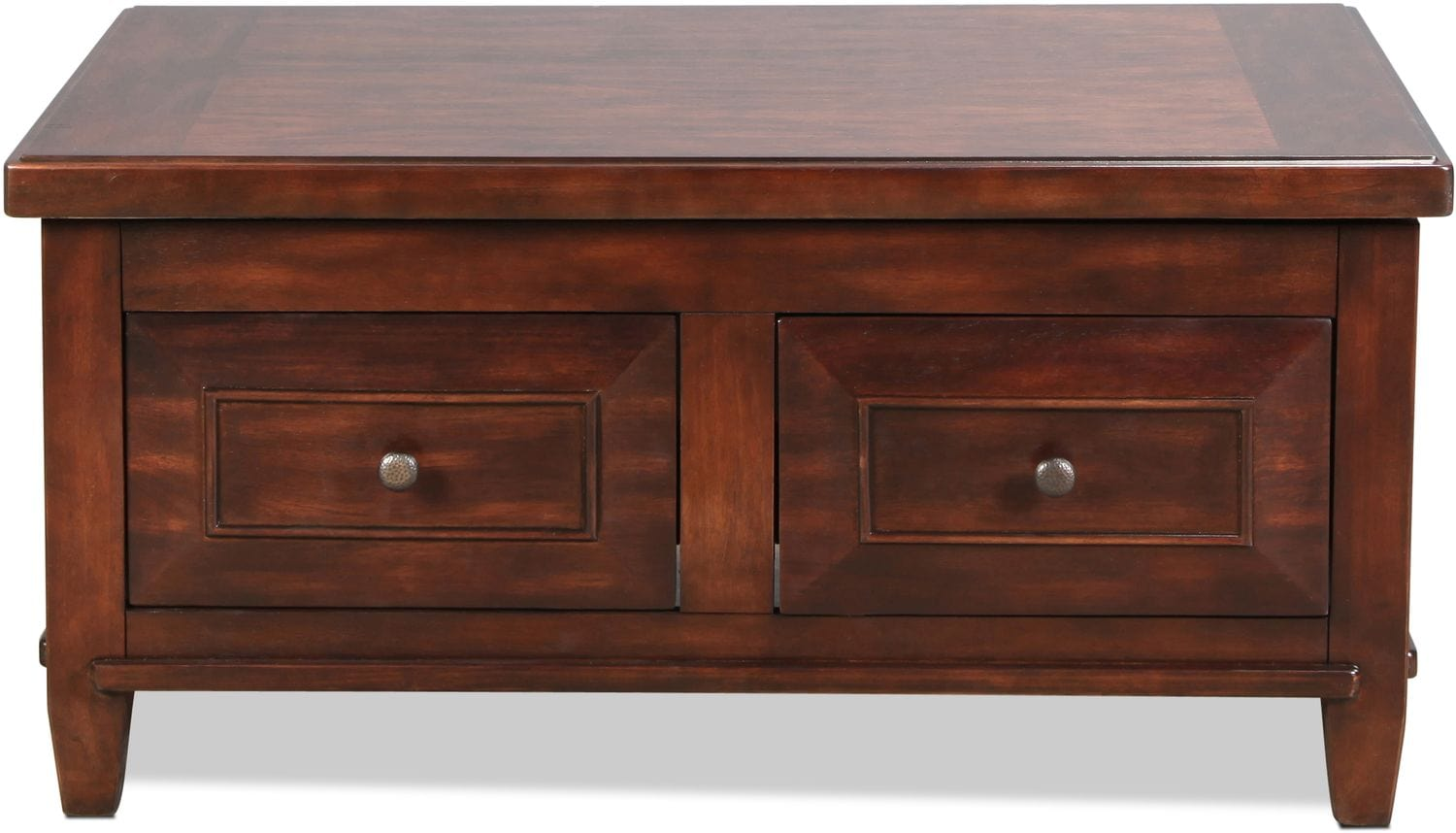 Accent and Occasional Furniture - Bentworth Lift-Top Coffee Table - Rustic Brown
