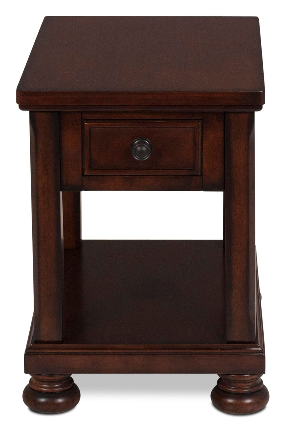 Hamilton Chairside Table - Burnished Brown